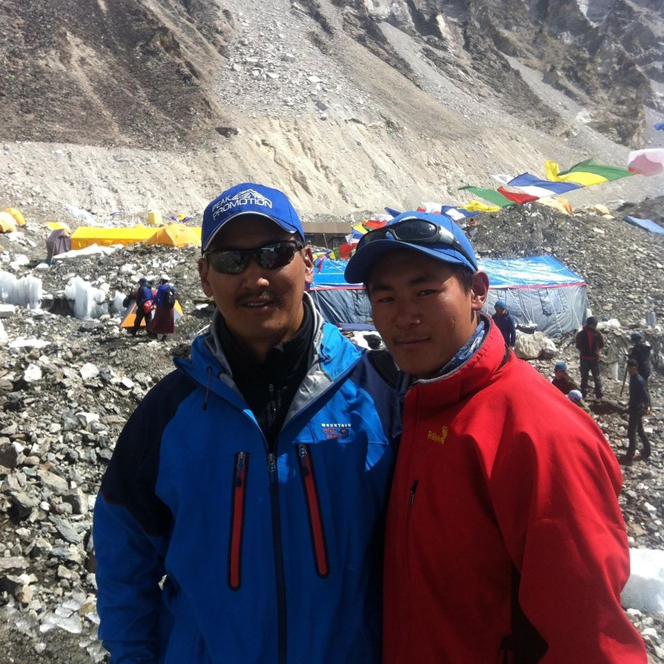 Ang Phula Sherpa and Kunga Sherpa at Everest Base Camp