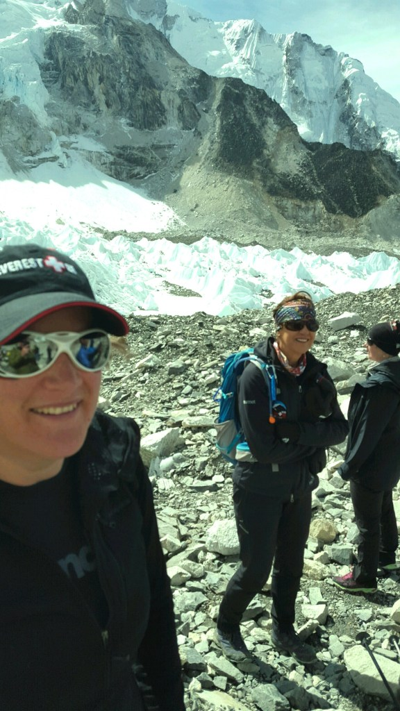 Dr. Tash Burley with Dr. Luanne Freer, the founder of Everest ER in background, and Dr. Rachel Tullet.