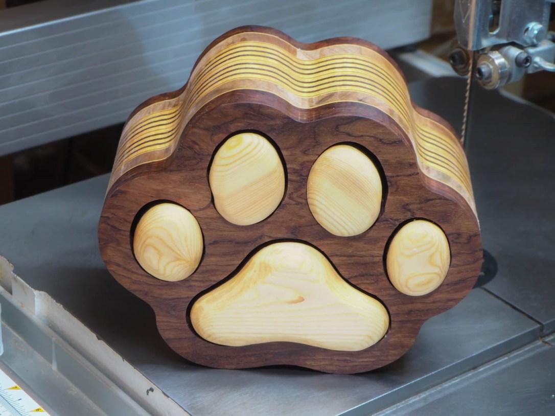 bandsaw box-Cat Paw Accessory Box
