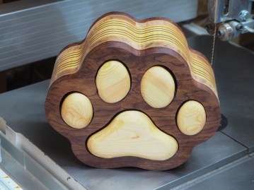 bandsaw box-Cat Paw Accessory Box