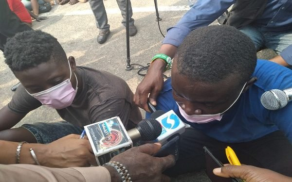 I stole to raise money to feature Davido or Runtown in my music - Suspected car thief says