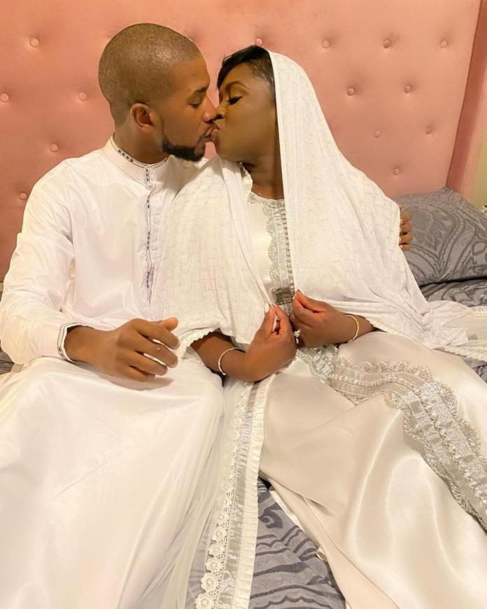 Newly married Princess Shyngle shares photo of herself kissing her husband