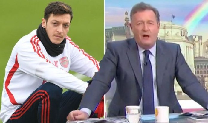 Former Arsenal Star Mesut Ozil mocks Piers Morgan and the TV host responds