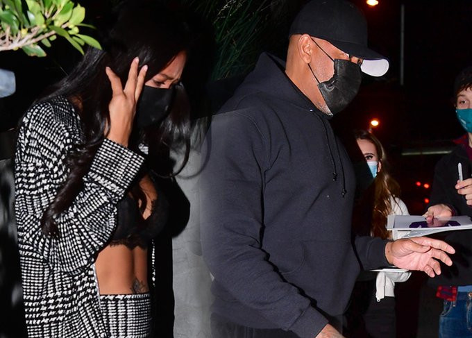 Dr. Dre and Apryl Jones spark dating rumours after being spotted together at a resturant in LA (photos)