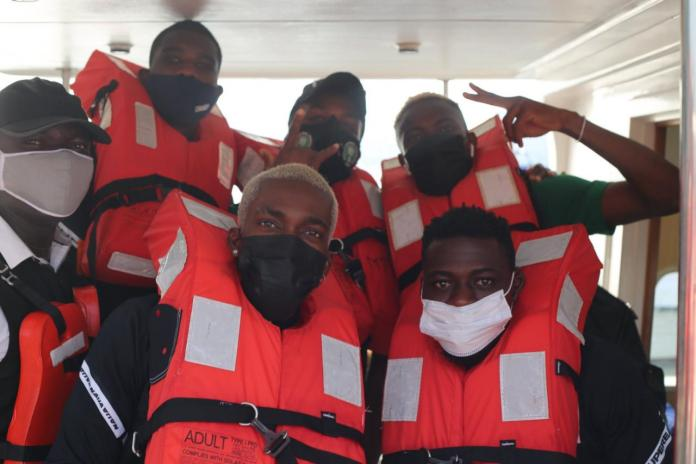 Super Eagles squad embark on boat trip to the Benin Republic for must win AFCON qualifiers clash? (Photos)