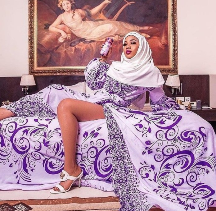 Toyin Lawani releases photo of herself in sexy Muslim clothing after she was called out for sexy nun costume and told she won
