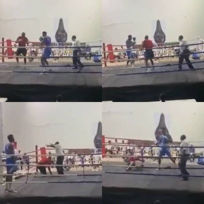 Nigerian boxer, Adegbola, knocks out his opponent in 15 seconds at the ongoing National Sports Festival (video)