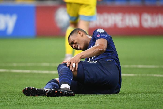Anthony Martial suffered a knee injury in France's win over Kazakhstan