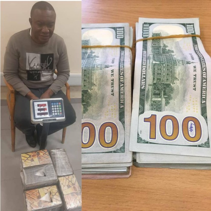 NDLEA intercepts N8billion cocaine, arrests Brazilian based drug kingpin at Lagos airport and seizes ,500 offered as bribe to compromise investigation (photos)