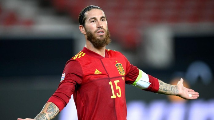 Real Madrid Captain, Sergio Ramos dropped by Spain for Euro 2020