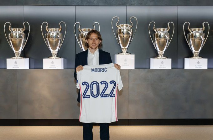 Real Madrid midfielder, Luka Modric signs one-year contract extension at the club