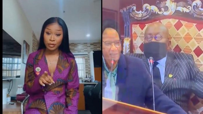 It is embarrassing ? Actress Efia Odo reacts to President Akufo sleeping at Africa Financing Summit in France