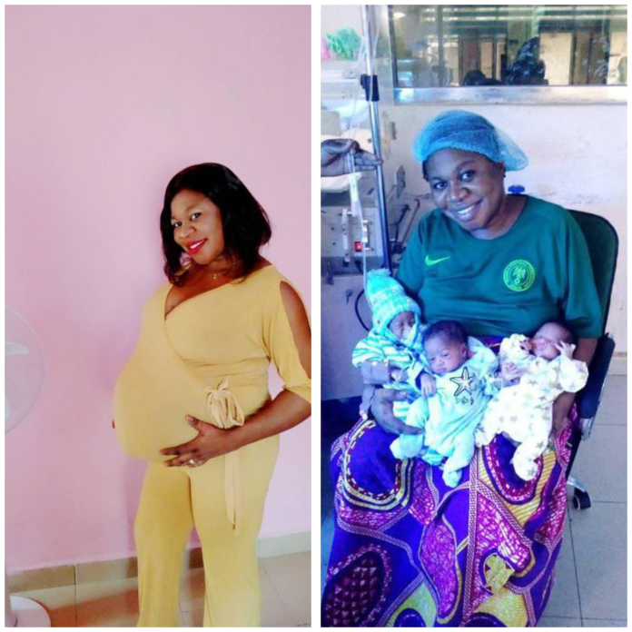 """Nigerian woman delivers triplets """"after 9 years of name-calling and insults"""""""