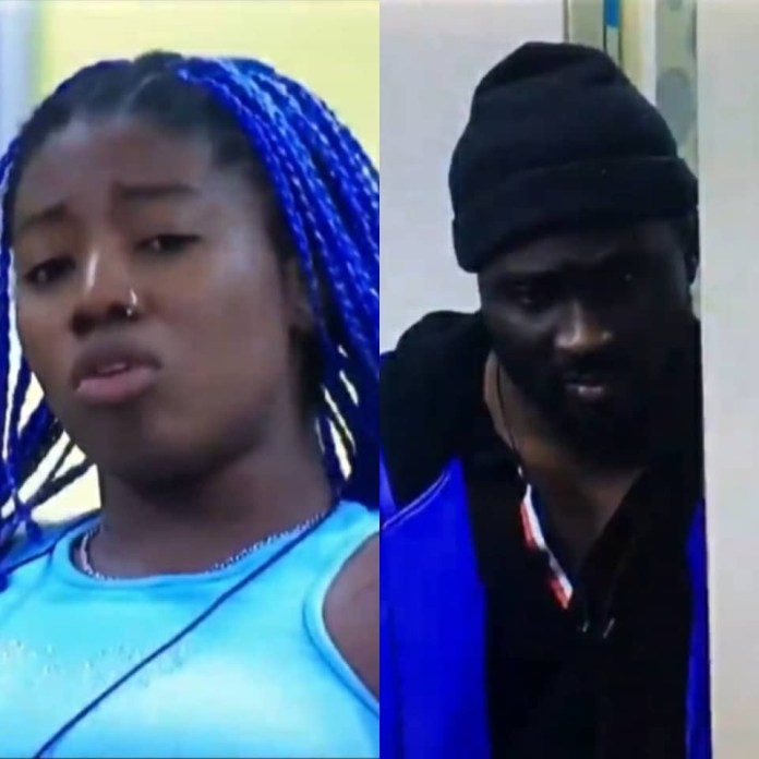 You didn?t know my teeth was growing when your d**k was getting hard in my mouth, f**cking !diot- Angel tells Pere as they clash (video)
