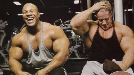 bodybuilders with big muscles