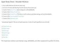 chest shoulder workout