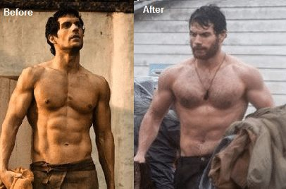 henry cavill before after