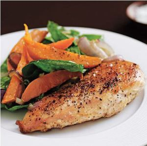 Grilled Chicken Breast is a great default go-to meal.