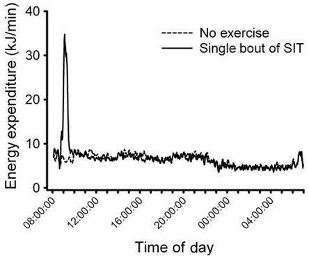 Energy expenditure during and after sprint interval