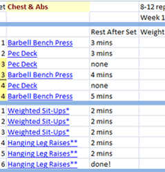 Download Free Workout Logs For THT Volume Cycle