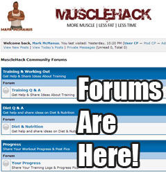 MuscleHack Community Forums Are Here!