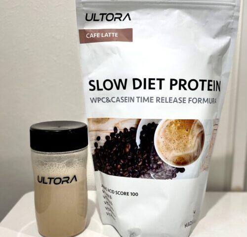 【限定クーポン付】SLOW DIET PROTEINを飲んだ結果・レビューまとめ【ULTORAプロテイン】