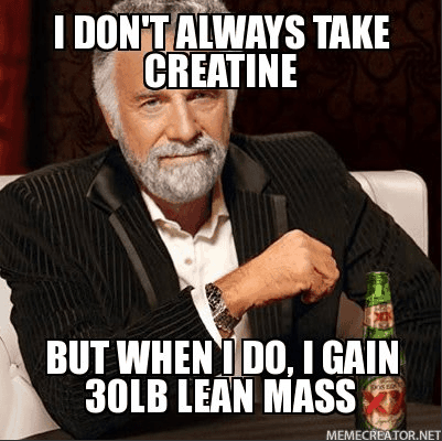 creatine muscle gain