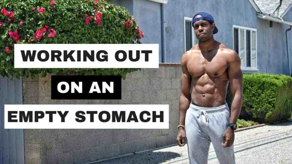 empty stomach workout