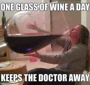 big glass of wine