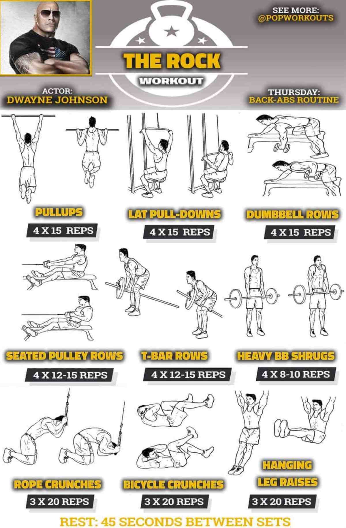 the rock back workout
