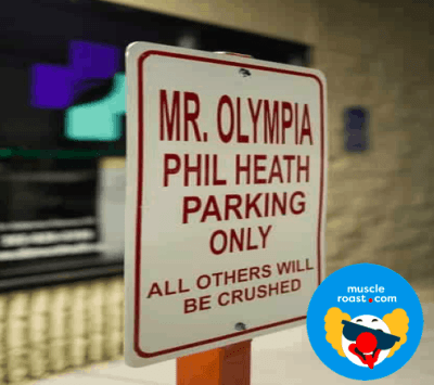 Phil Heath Parking Spot