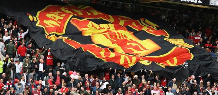 Drapeau des Supporters à Old Trafford - Manchester United
