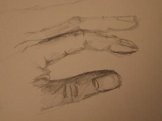 Hand, Zeichnung, Bleistift