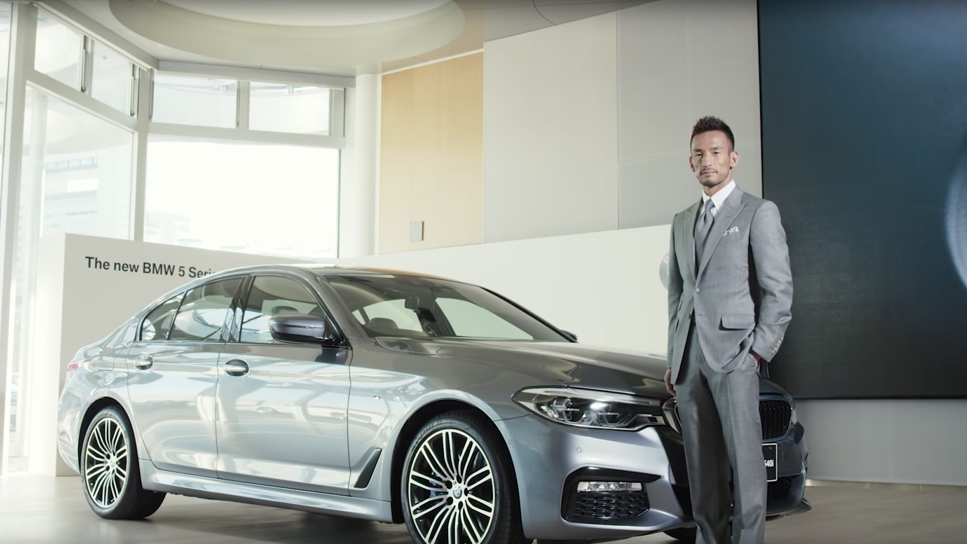 BMW「The all-new BMW 5 Series x 中田英寿」篇 webムービー 同録/Sound Design/MA 担当しました。