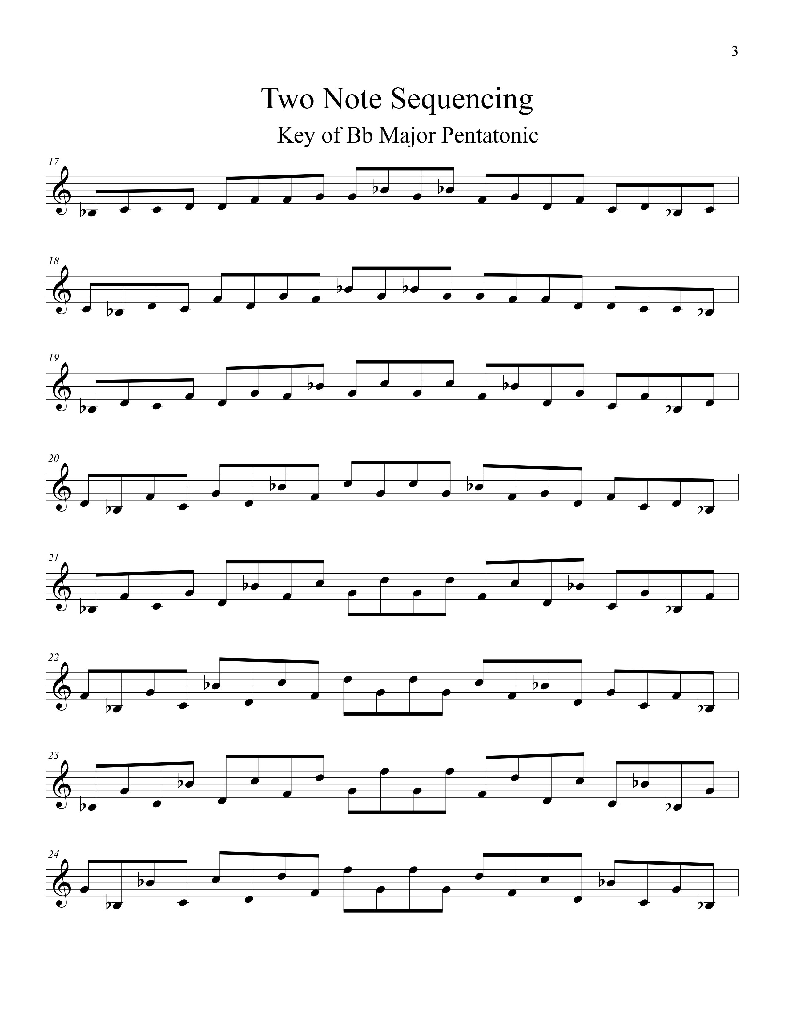 Modal Sequencing Two Note For All Instrumentalists