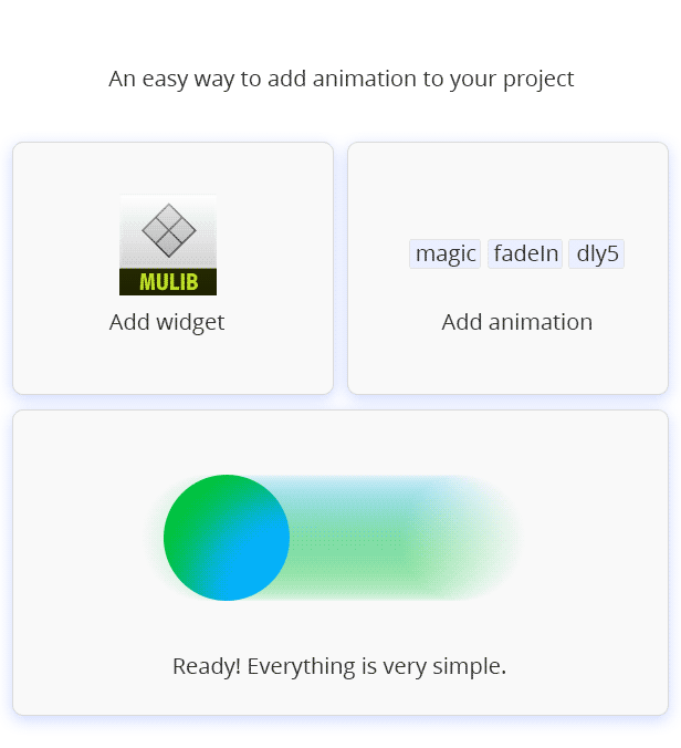 Magic Animation widget for Adobe Muse