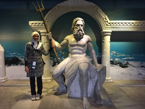 With my favorite Greek god, Poseidon