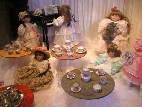 Some doll tea sets