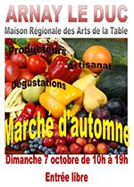The poster that announces the autumn market.