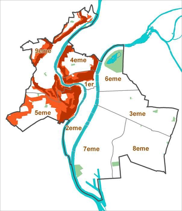 Risques de glissements de terrain à Lyon