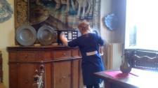 #ADayInTheLife la casa museo d'artista si spolvera e si cura come le nostre case! #MuseumWeek #MuseoCanonica