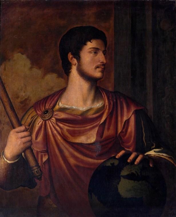 Bernardino Campi (1522-1592), Ritratto dell'imperatore Ottaviano Augusto, olio su tela, 1562. Copia dalla serie perduta dei Cesari di Tiziano. Napoli, Museo Nazionale di Capodimonte