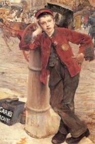 Jules Bastien-Lepage – Petit cireur de bottes à Londres 1882 – Huile sur toile – 132,5 x 89,5 cm – Paris, Les Arts Décoratifs, Département xviie – xviiie siècles – Photo © Les Arts Décoratifs, Paris / Jean Tholance