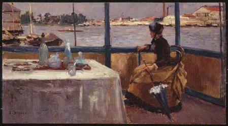 Pierre-Emmanuel Damoye (1847 - 1916), La Seine à Nanterre, vers 1885-1890, huile sur bois, 30 x 60 cm, musée du Domaine de Sceaux, inv. 37.1.8 ©Musée du Domaine départemental de Sceaux/ Lemaître
