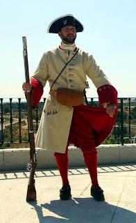 Fotografía explicativa del uniforme del Regimiento. Extraída de: asociacion1707.blogspot.com