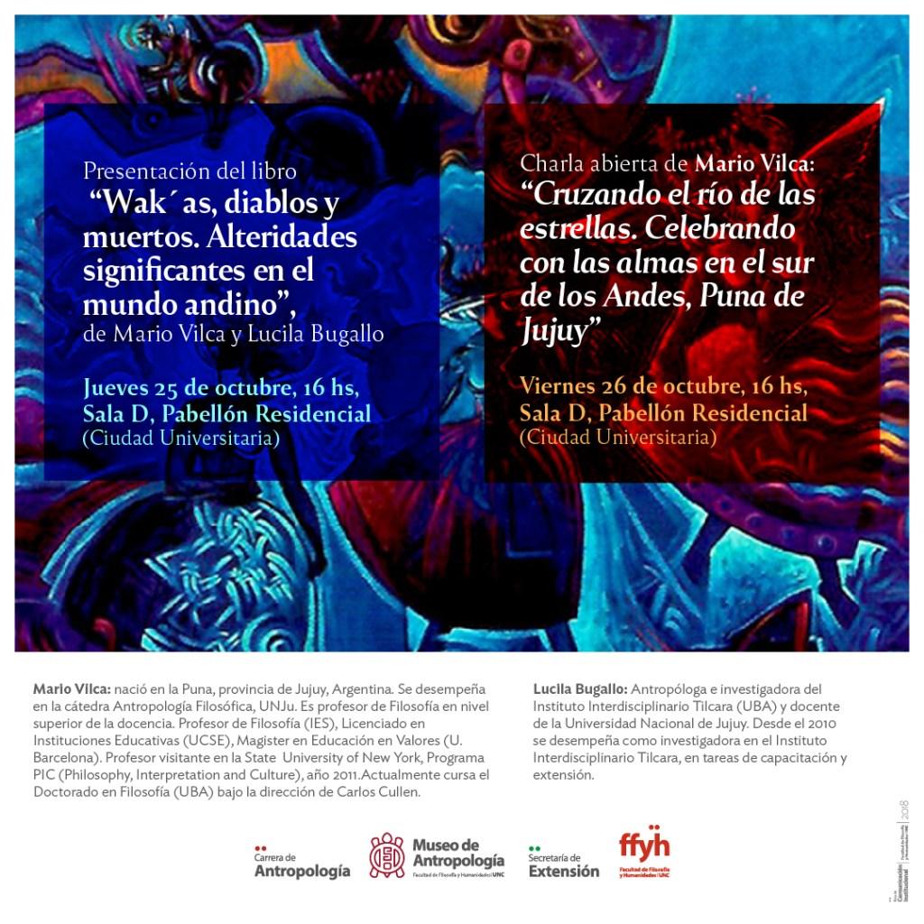 """Presentación del libro """"Wak´as, diablos y muertos. Alteridades significantes en el mundo andino"""" y charla abierta del antropólogo Mario Vilca"""