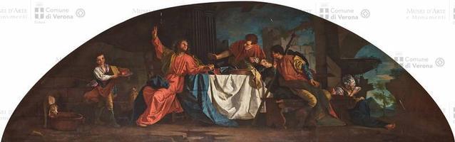 Giuseppe Cignaroli (Verona 1726-1796), Cena in Emmaus, 1759, olio su tela