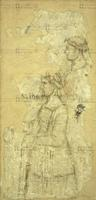 Altichiero da Zevio (notizie 1369-1384) Figura femminile. Testa di frate 1364-1368 pittura murale staccata