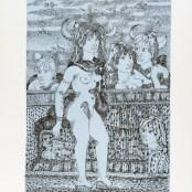 37. Tono Zancanaro, Non facea nascendo ancora paura, litografia, mm695x500, 1966