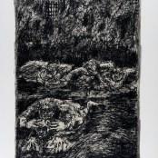 46. Tono Zancanaro, Il conte Ugolino, litografia, mm695x500, 1966